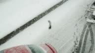Auto Unfall im Winter fahren Geschäftsbedingungen