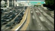 Car along freeway