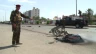 A car bomb targeting Shiite pilgrims killed at least 14 people in southern Baghdad on Monday security and medical sources said