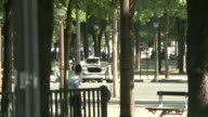 A car burst into flames after it crashed into a police van on the Champs Elysees avenue in Paris police and investigators say adding that the driver...