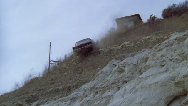 WS TD Car crashing over edge and falling in lake