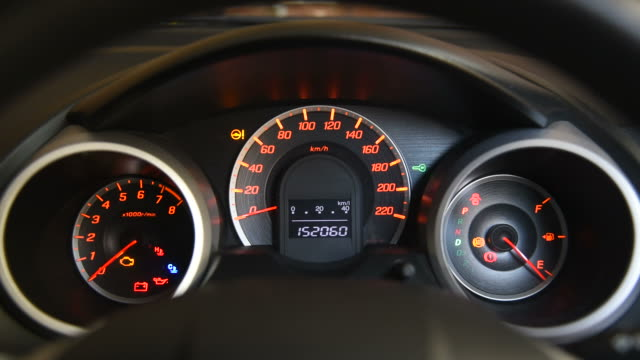 HD: Car Dashboard Glowing