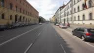 POV Car drive on Ludwigstrasse in Munich