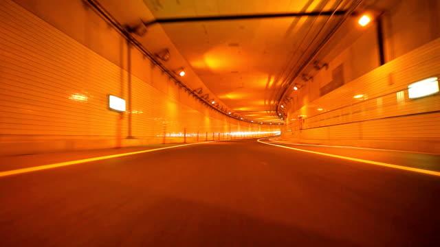 Car driving at night(rearview)