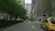 Car POV driving in NYC toward Grand Central Terminal