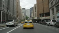 Car POV driving in NYC