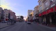 POV, Car driving on Canal Street, New Orleans, Louisiana, USA
