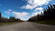 Auto fahren POV auf kanadischen Panoramastraßen