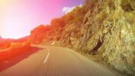 pov Auto mit dem Auto: Gefährliche coastal road