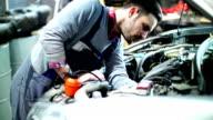 Car engine maintenance.