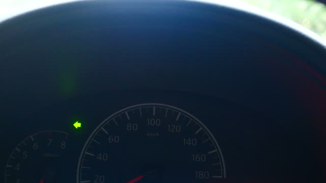 Car gauge panel with turn light