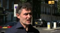 Car manufacturers continue to underestimate toxic emissions Paul Morozzo interview SOT Car along past Old Street roundabout Various shots car driving...