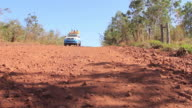 MS Car moving through dirt road / Corumba, Mato Grosso do Sul, Brazil