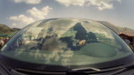 Car Onboard Camera: view on the windshield