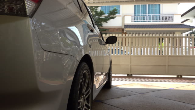 car parked in house garage