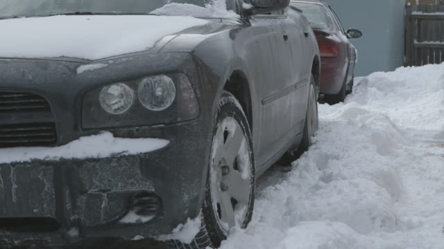 MS Car pulling out of driveway in snow