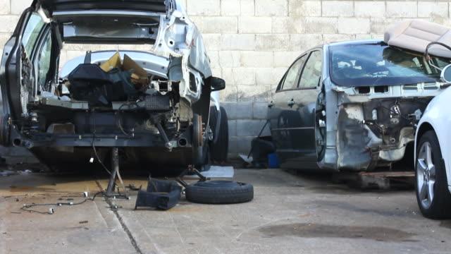 Car repairing. Auto Repair Shop. Junkyard.