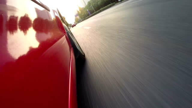 car running in high speed