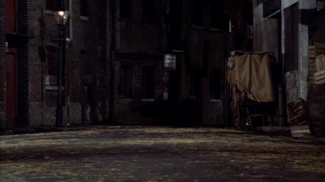 MS PAN Car running on dark deserted side street