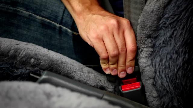 Auto Sicherheitsgurten rechten Seite (Multi-Aufnahmen mit Audio)
