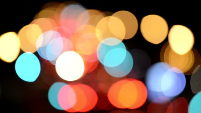 Car Tail Lights Bokeh of New York Traffic