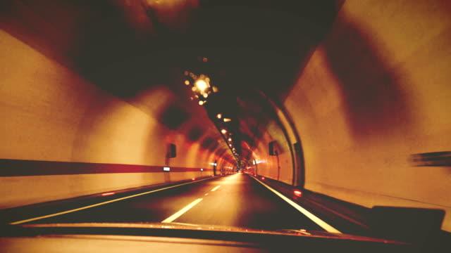 Car through the tunnel