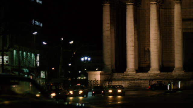 TS Car traveling on road in night / Paris, Frace