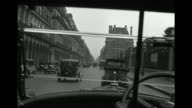 MS POV Car travelingthrough road near louvre / Paris, France