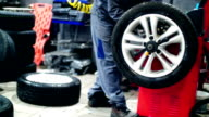 Car tyre replacement and balancing.