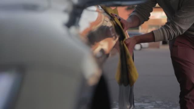 Car washing by hand