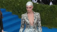 Cara Delevingne at 'Rei Kawakubo/Comme des Garcons Art Of The InBetween' Costume Institute Gala Arrivals at The Metropolitan Museum of Art on May 01...