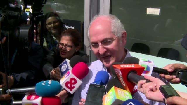 Caracas mayor Antonio Ledezma a key opponent of President Nicolas Maduro was on his way to Madrid on Friday after escaping house arrest in the...