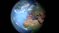 Carbon Dioxide visualization Europe