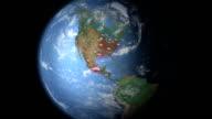 Carbon Dioxide visualization North America