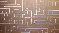 Foglio di carta e di schede di circuiti Virus 3