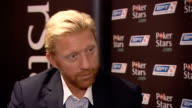 PokerStars European Poker Tour Boris Beckham interview Boris Becker interview SOT Whether luck is involved difference between playing online and...