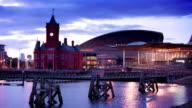 Cardiff Bay at Dusk, Wales