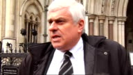 Cardiff City escapes repaying loan ENGLAND London Royal Courts of Justice EXT Peter Ridsdale from court and speaking to press SOT then away Responds...