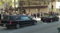Cardinal Francis George Casket Loaded Into Hearse At Funeral at Holy Name Cathedral on April 23 2015 in Chicago Illinois