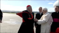 Cardinal Keith O'Brien 'inappropriate behavior' allegations LIB EXT Pope Benedict XVI being welcomed by Cardinal Keith O'Brien at airport Prince...