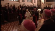 Cardinal Keith O'Brien resigns following 'inappropriate behavior' allegations FILE 1992010 / R19091015 Birmingham Oscott College INT Pope Benedict...