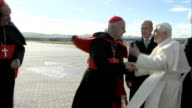 Cardinal Keith O'Brien resigns following 'inappropriate behavior' allegations LIB Pope Benedict XVI greeting Cardinal Keith O'Brien Pope shaking...