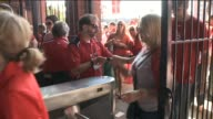 KTVI Cardinals Fans Enter Busch Stadium Through Turnstiles in April 2015