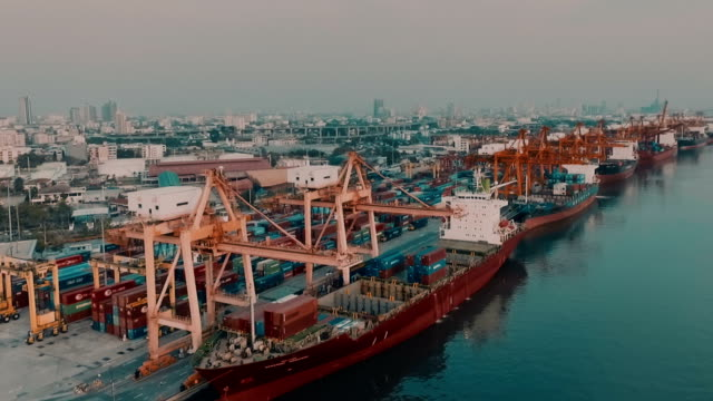 Cargo Container in Bangkok Harbor