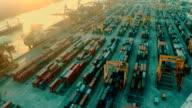 Cargo Container Port Aerial