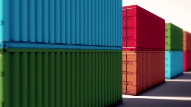 Cargo container in loop