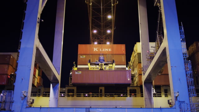 Cargo Crane Moving Containers