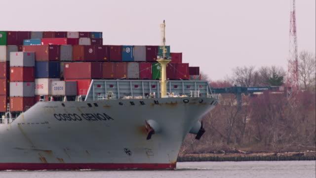 Cargo Ship in the Newark Day