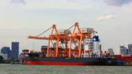 Cargo ship loading