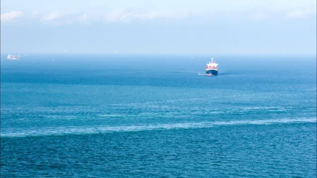 cargo Schiff Segeln auf dem Meer